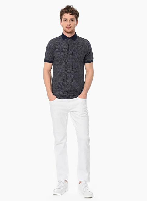 Network Slim Fit Polo Yaka Tişört Lacivert